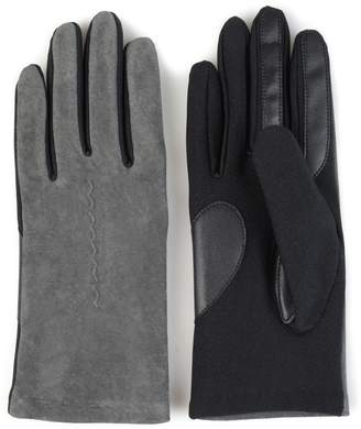 Journee Collection Women's Fleece-Lined Suede Tech Gloves