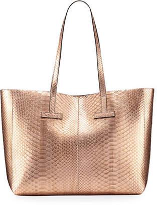 Tom Ford Small Metallic Python T Tote Bag
