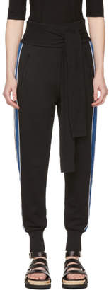 3.1 Phillip Lim Black and Blue Waist Tie Jogger Pants