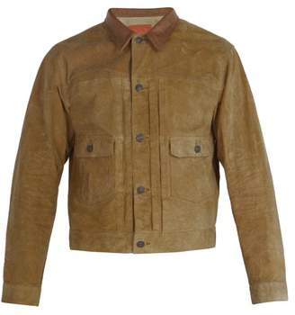 Rrl - Roughout Suede Jacket - Mens - Tan