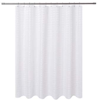 At Amazon Hotel By K BrosCo Barossa Design Fabric Shower Curtain White
