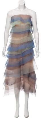 Marc Jacobs Tiered Strapless Dress