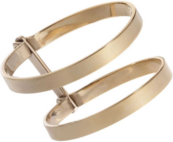 A.L.C. Jewelry Brass Double Bondage Cuff
