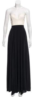Mason Leather-Paneled Silk Dress