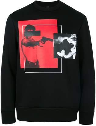 Neil Barrett Scarface box print sweatshirt
