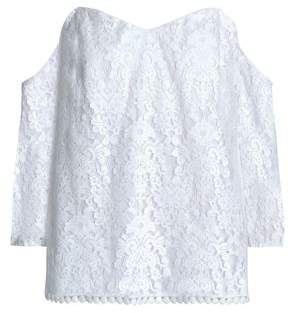 Bailey 44 Off-The-Shoulder Cotton-Blend Lace Top