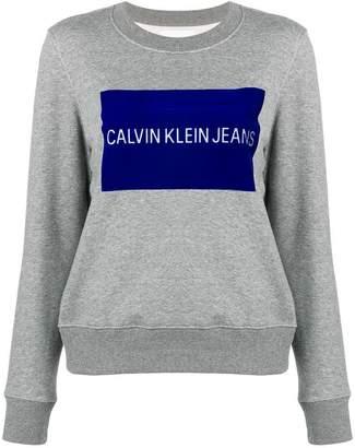 Calvin Klein Jeans flock logo sweatshirt