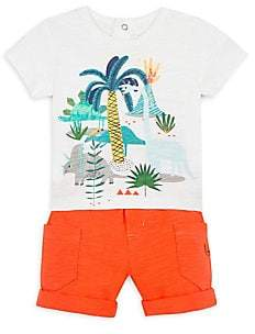 Catimini Baby Boy's Dinosaur Tee& Shorts Set