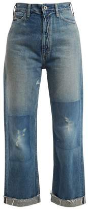 Chimala Straight-leg cropped jeans