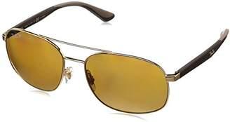 Ray-Ban Men's 0rb3593 Polarized Square Sunglasses