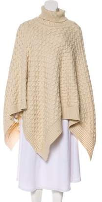 Isabel Marant Merino Wool Turtleneck Poncho