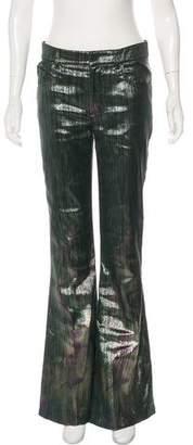 Tom Ford Metallic Mid-Rise Pants