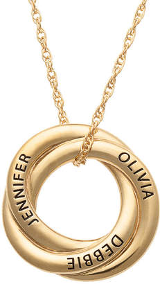 FINE JEWELRY Personalized Womens 14K Gold Over Silver Knot Pendant Necklace