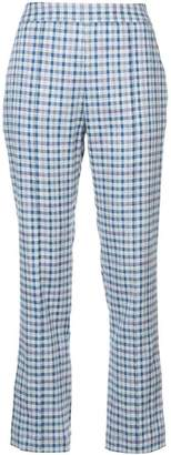 Rosie Assoulin checked cropped trousers