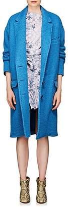 Etoile Isabel Marant Women's Gimi Wool-Blend Cocoon Coat - Blue