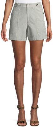 Rag & Bone Steele Seersucker High-Rise Shorts