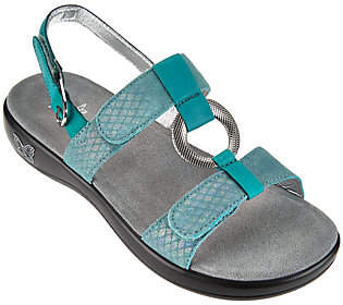 Alegria Leather Multi-strap Sandals w/ HardwareDetail - Julie