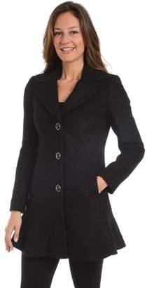 Fleet Street Women's Flounce Wool-Blend Coat