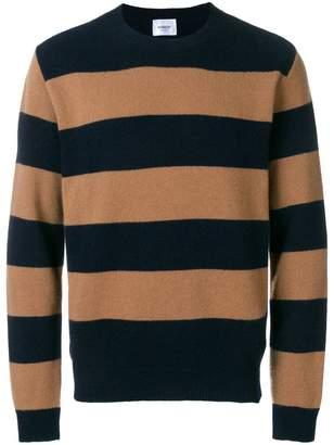 Dondup striped crew neck jumper