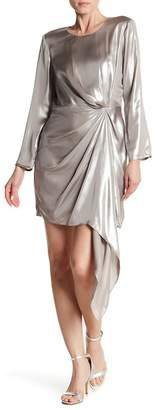 Bardot Shimmer Drape Front Dress