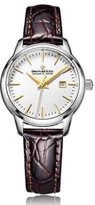 Dreyfuss & Co Dreyfuss Womens Analogue Classic Quartz Watch with Leather Strap DLS00125/02