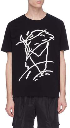 Rochambeau x Aaron Curry abstract graphic print T-shirt