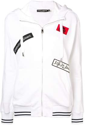 Dolce & Gabbana patch-embellished hoodie