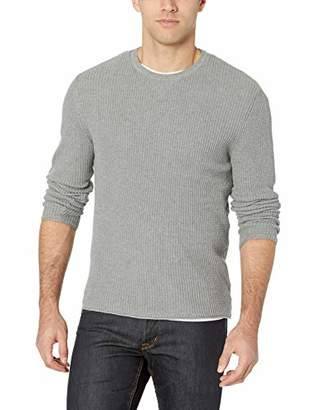 Billy Reid Men's Cotton Cashmere Mini Waffle Crew Neck Sweater