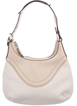 Gucci Leather-Trimmed Canvas Hobo