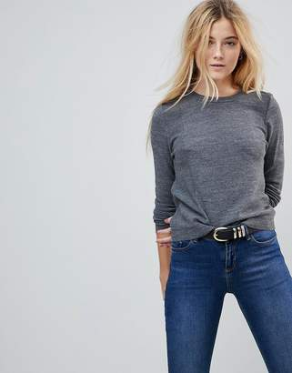 Asos DESIGN Sweater With Crew Neck And Panel Detail