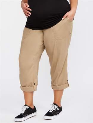Motherhood Maternity Plus Size Secret Fit Belly Twill Straight Leg Maternity Pants