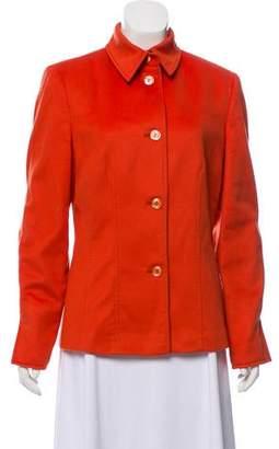 Agnona Cashmere Casual Bal-Collar Blazer