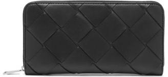 Bottega Veneta Maxi Intrecciato Leather Wallet - Womens - Black