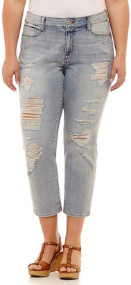 Arizona Vintage High Rise Skinny Fit Jean-Juniors Plus