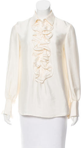 3.1 Phillip Lim 3.1 Phillip Lim Silk Ruffle-Trimmed Top
