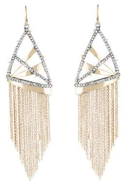 Alexis Bittar Chain Fringe Drop Earrings