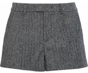 RED Valentino Herringbone Wool-Blend Shorts