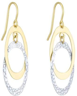 Together Silver & 9ct Bonded Gold Double Drop Earrings