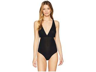 Only Hearts Feather Weight Rib V-Neck Cut Out Bodysuit