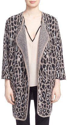 Joie Berit Animal Print Wool Blend Cardigan $398 thestylecure.com