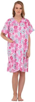Women's 'Diana' Short Sleeve Floral House Dress by EZI