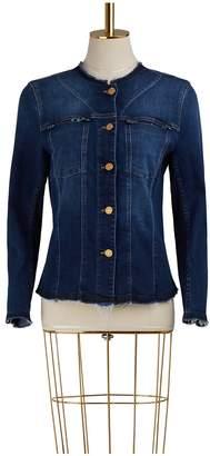 7 For All Mankind No Collar Denim Jacket