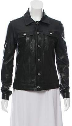 BLK DNM Leather Collared Jacket
