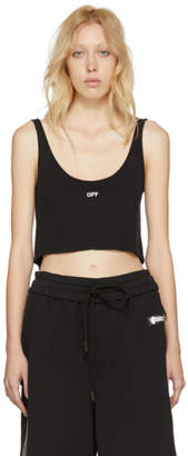Off-White Black Off Cropped Over Tank Top