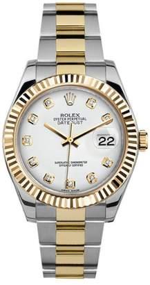 Rolex Datejust II 116333 White Diamond Dial 41mm Mens Watch