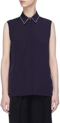 Victoria Beckham VICTORIA, Stud collar sleeveless shirt