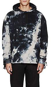 "Blood Brother MEN'S ""ROBOT"" TIE-DYED COTTON HOODIE-BLACK SIZE L"