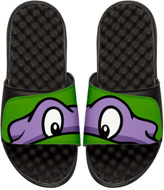 ISlide Men's Teenage Mutant Ninja Turtles Donatello Slide Sandals, Black
