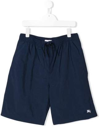 Burberry Equestrian Knight embroidered swim shorts