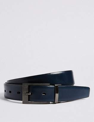 Marks and Spencer Leather Rectangular Buckle Reversible Belt